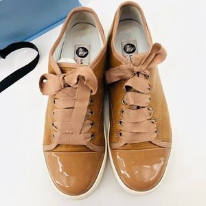 LANVIN Leather Low-Top Sneakers 38